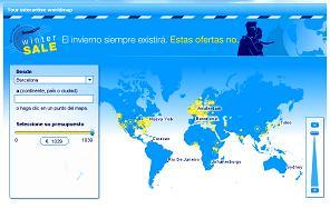 KLM: mapa de precios