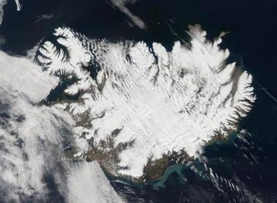 Volcanes y glaciares en Islandia